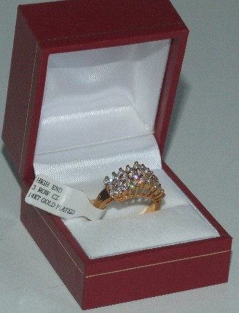 CZ gold plated ring