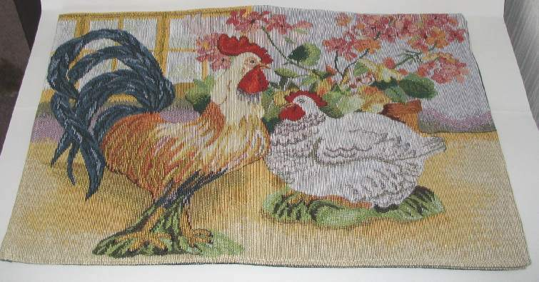 rooster and hen placemats
