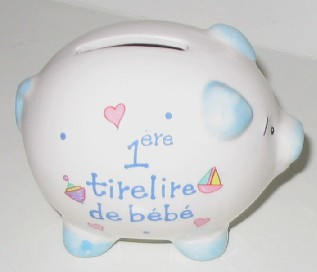 baby boy piggy bank