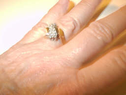 diamond cluster ring used