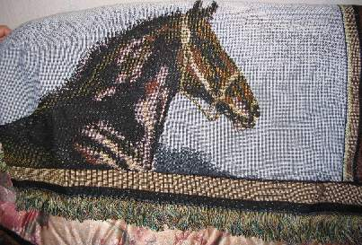 tapestry horse throw