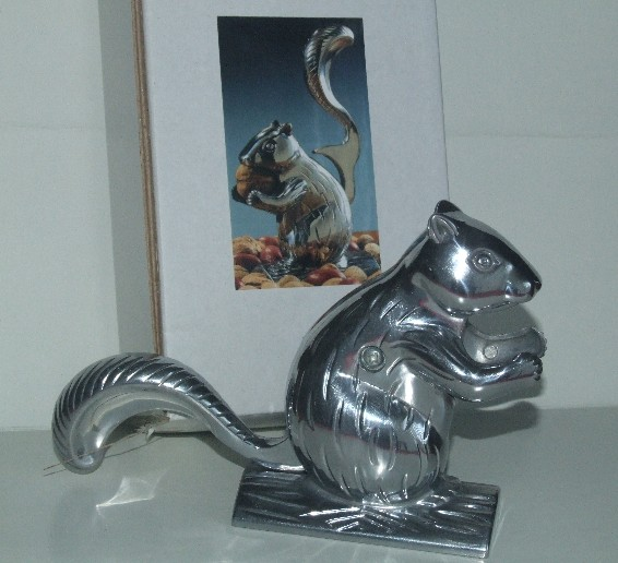 Squirrel nutcracker silver finished aluminum sturdy construction cute useful ebay - Nutcracker squirrel ...