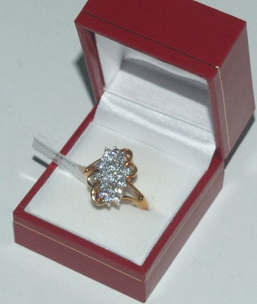 CZ waterfall ring